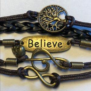 Jewelry - Believe/Music Infinity Bracelet - New